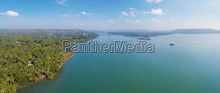 veduta aerea del paesaggio di north