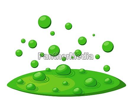 bolle tossiche velenose fumi verdi vapore