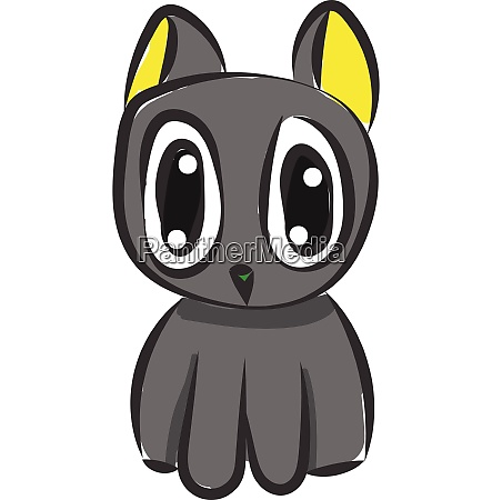 funny cat vector or color illustration