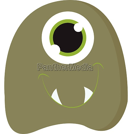 monster with green eyes vector or