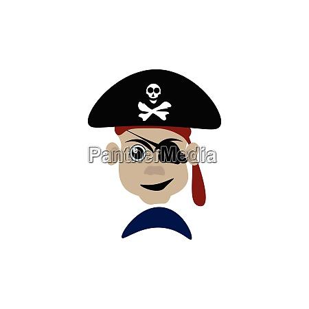 un pericoloso vettore pirata o illustrazione