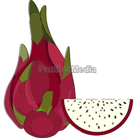 clipart, dell'intero, vettore, di, frutta, drago - 27504180