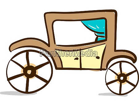 un carro marrone vettore o illustrazione