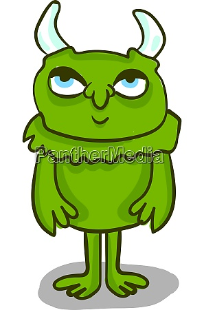 a green monster with big eyes
