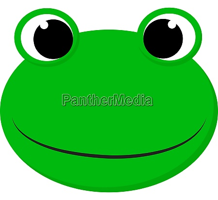 a happy green frog vector or