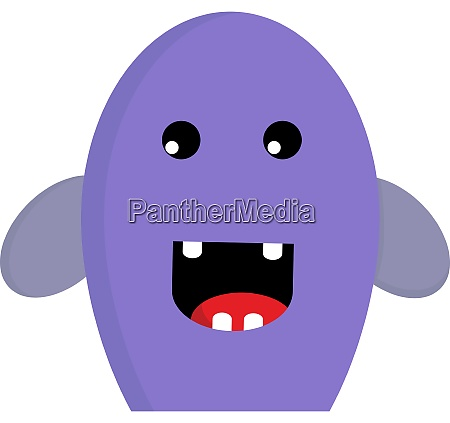 a happy purple monster vector or