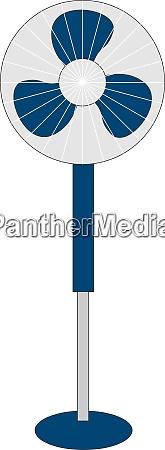 ventilatore blu illustrazione vettore su sfondo