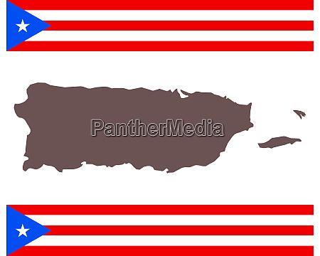 landkarte von puerto rico auf hintergrund