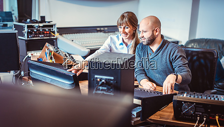 singer or artist and sound engineer