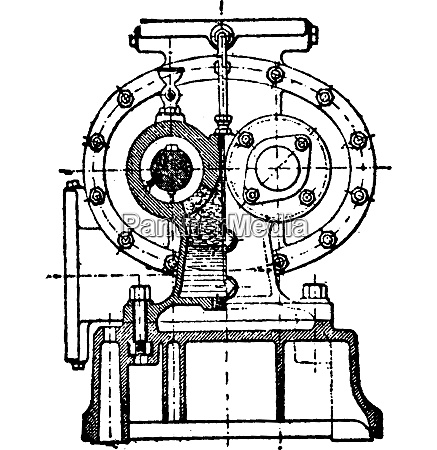 prima sezione trasversale della pompa greindl