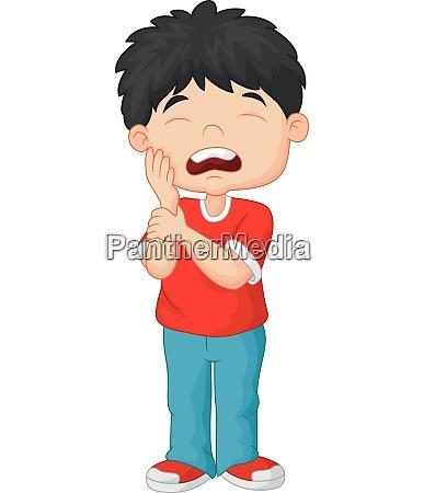 cartone animato bambino mal di denti