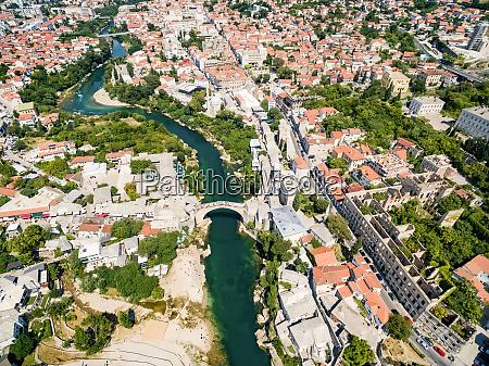 vista aerea della citta di mostar