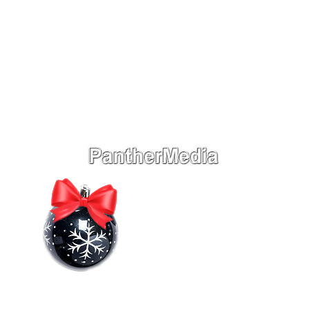black christmas ball isolated on white