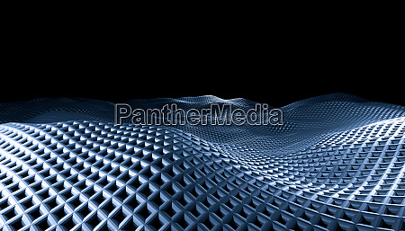 geometric abstract grid waves on a
