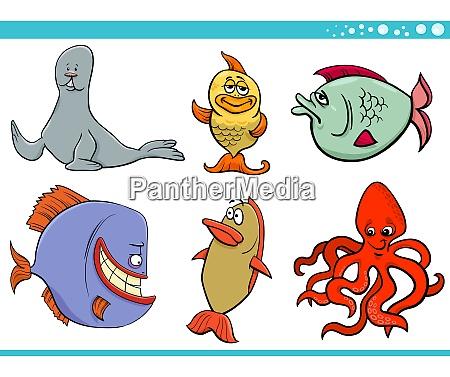 collezione, di, personaggi, specie, animali, vita - 27640425