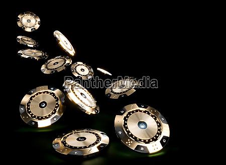 3d render image of casino chips