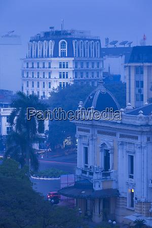 vietnam hanoi elevated view of hanoi