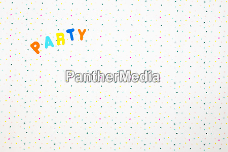 the word party printed on a