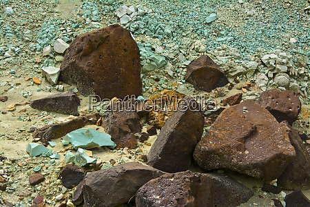 colorful rocks blue basin john day