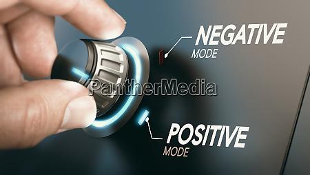 passare a un atteggiamento positivo concetto