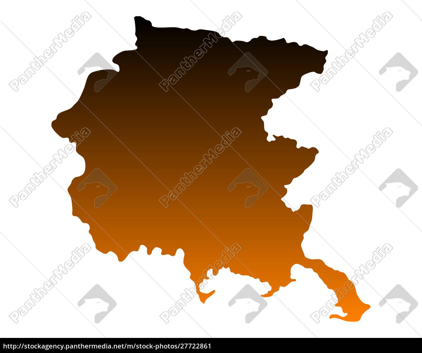mappa, del, friuli-venezia, giulia - 27722861