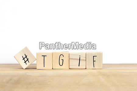 wooden cubes with hashtag and the