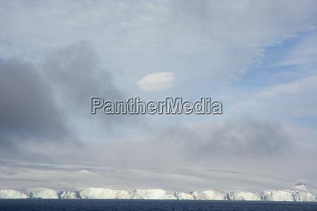 antarctica antarctic sound scalloped snowy shore