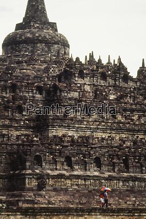 indonesia borobudur vista del tempio buddista
