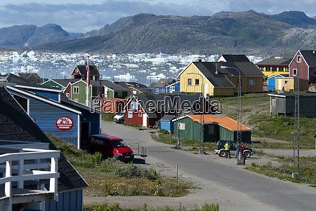 greenland narsaq colorful cottages line the