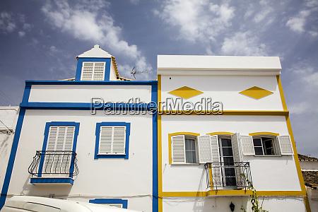 portogallo tavira case colorate di tavira