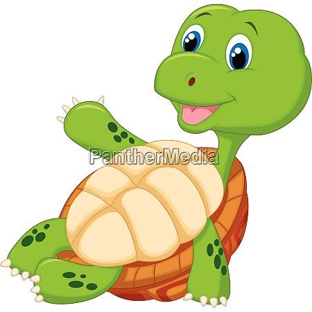 giocattolo tropicale tropicale tartaruga vettore agitando