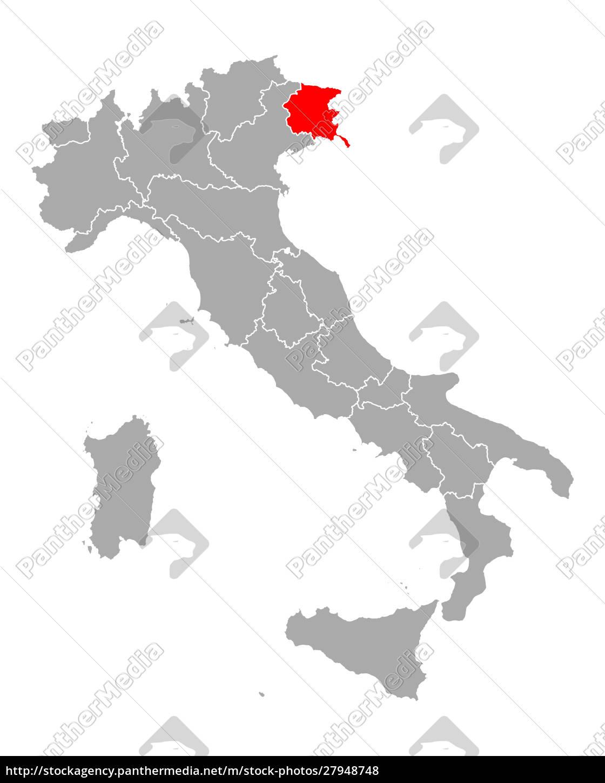 map, of, friuli-venezia, giulia, in, italy - 27948748