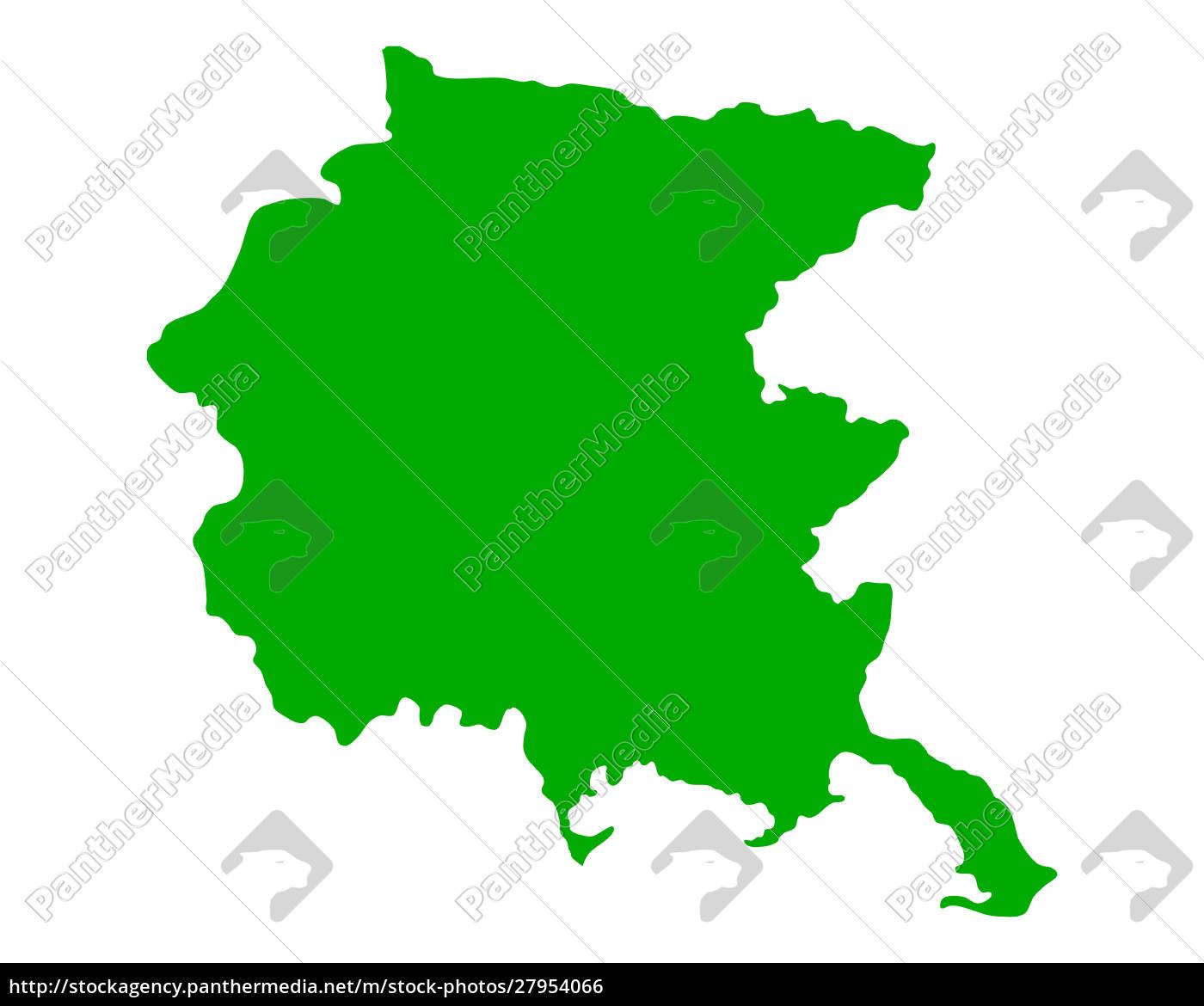 map, of, friuli-venezia, giulia - 27954066