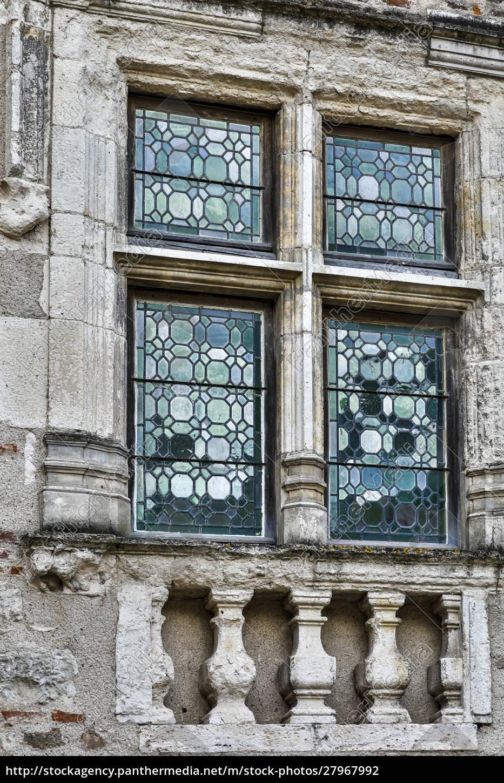 france, , cahors., leaded, glass, windows. - 27967992