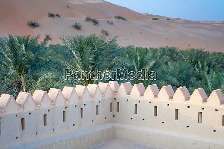 castello del deserto nelloasi di liwa