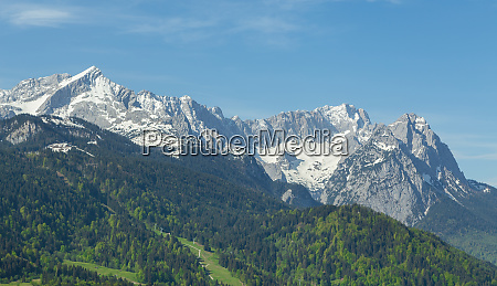 panorama alpi di garmisch partenkirchen baviera