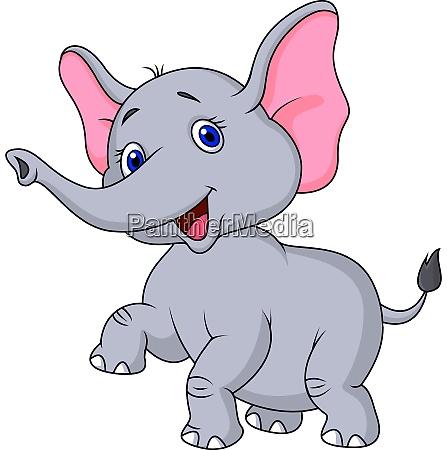 carino cartone animato elefante