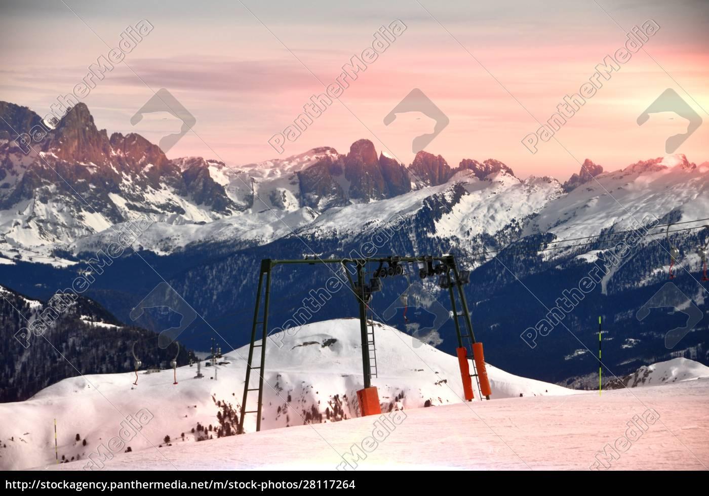 sciare, nel, sud, tirolo - 28117264