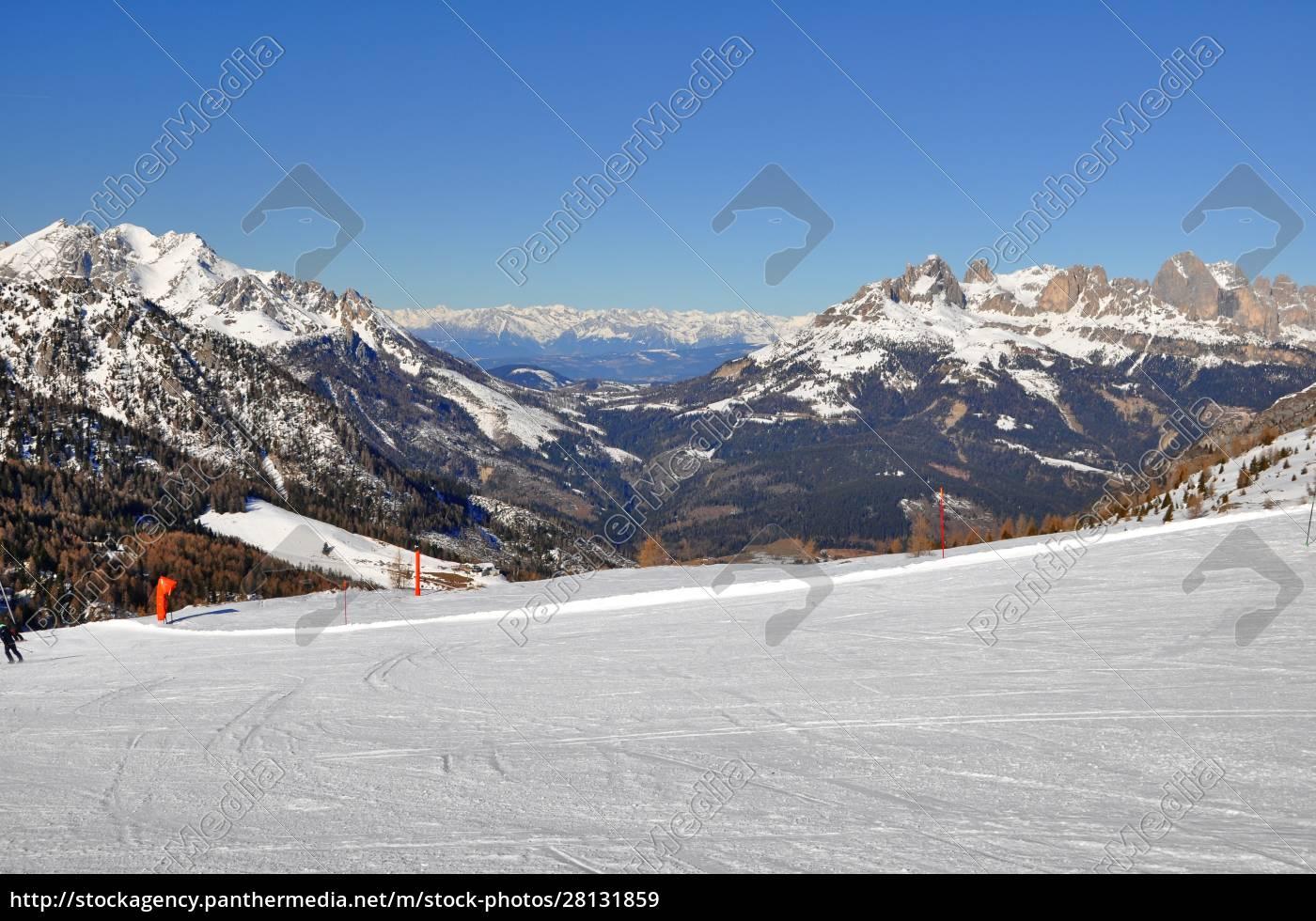 sciare, nel, sud, tirolo - 28131859
