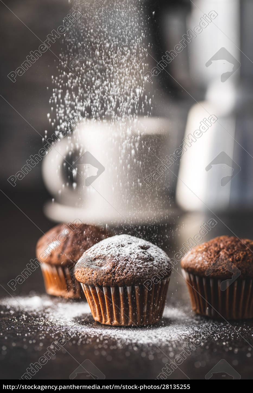 muffin, al, cioccolato, gustosi., dolce, tortini. - 28135255