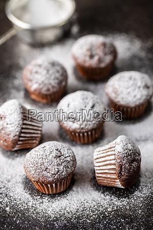 muffin, al, cioccolato, gustosi., dolce, tortini. - 28135259