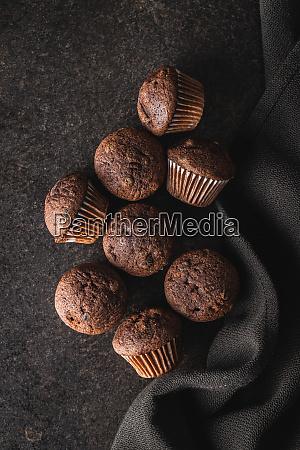 muffin, al, cioccolato, gustosi., dolce, tortini. - 28135278