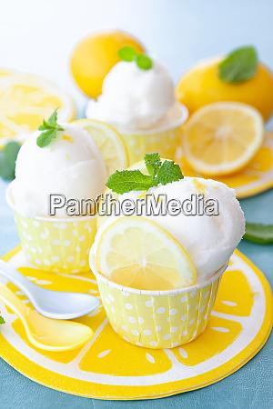 sorbetto al limone freddo