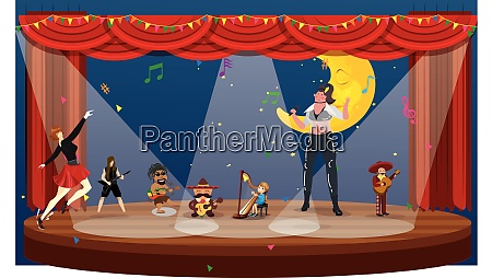 group, dancing, and, enjoying, in, party - 28581697
