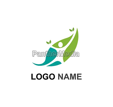 vita sana vettore modello logo medico