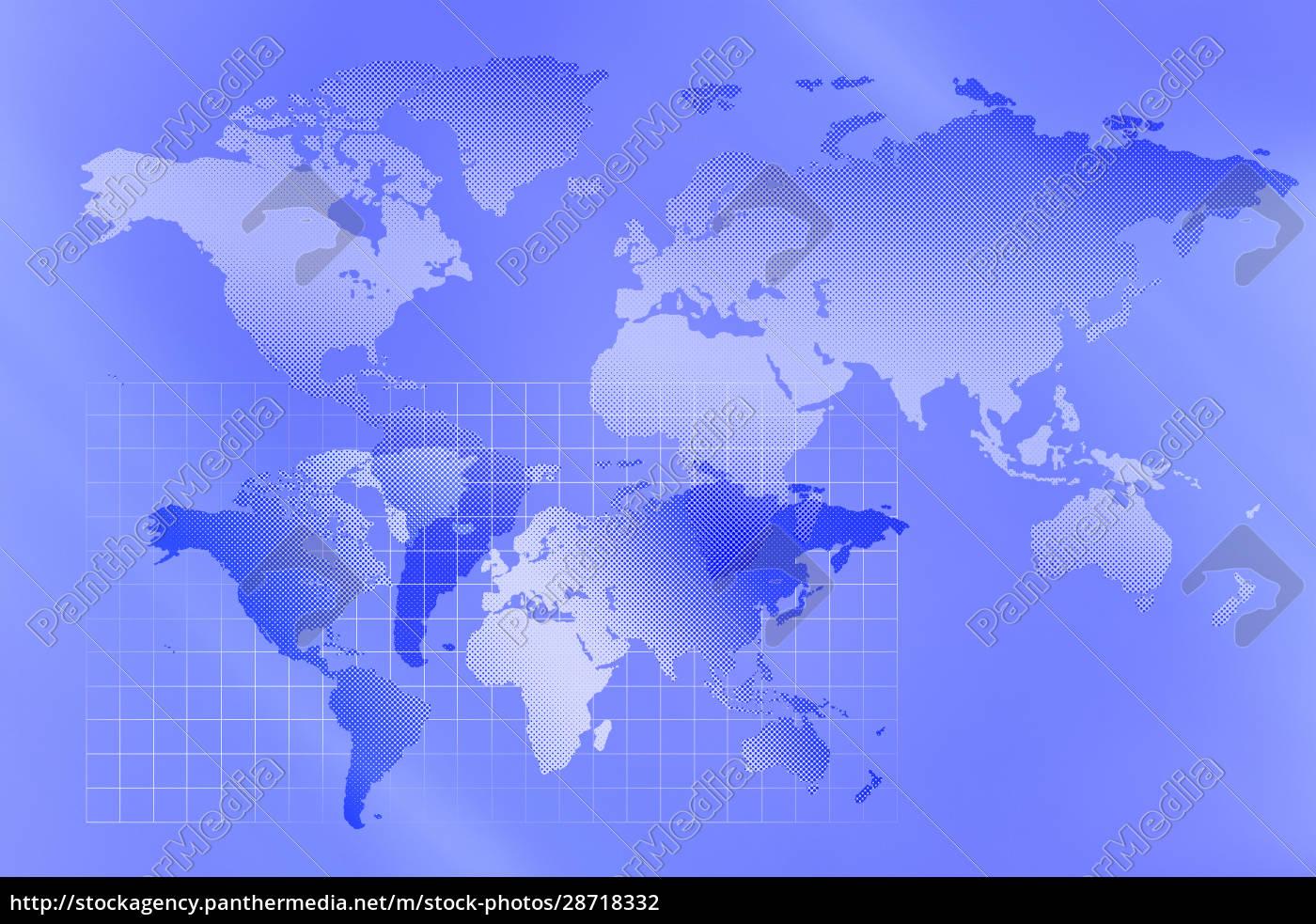 blue, world, map - 28718332