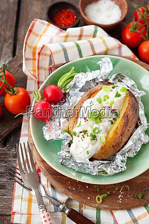 patate al forno con panna acida