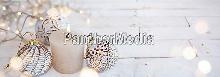 decorazione natalizia bianca