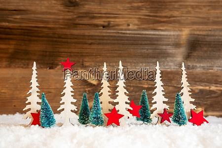 albero di natale neve stella rossa