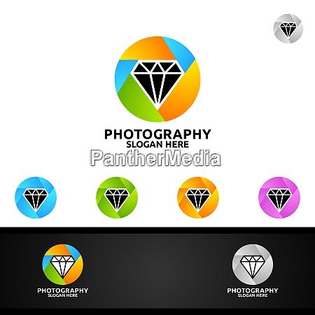 logo di fotografia della fotocamera di